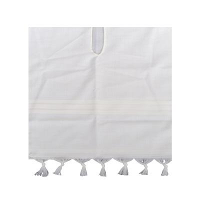 טלית קטן מצמר לבן מידה 8