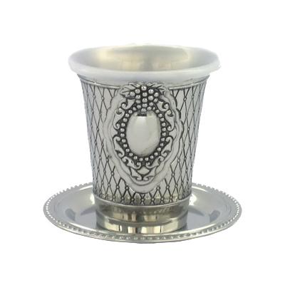 גביע קידוש ניקל פנינה עם תחתית